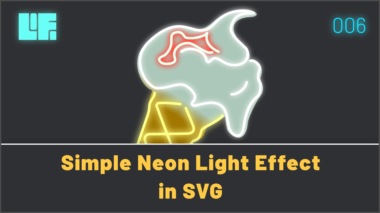 Simple Neon Light Effect in SVG