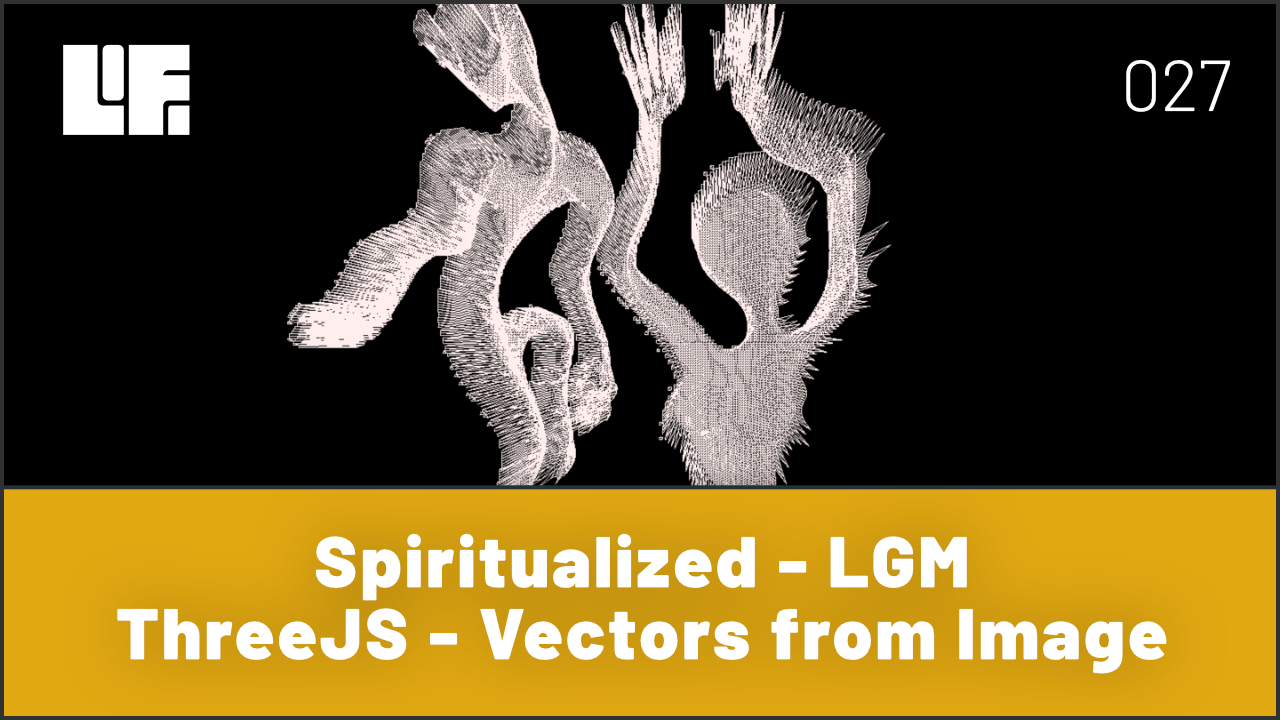ThreeJS Vectors from Image Spiritualized - LGM